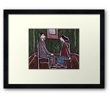 The Courting Couple Framed Print