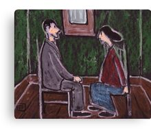 The Courting Couple Canvas Print