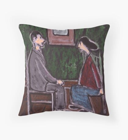 The Courting Couple Throw Pillow