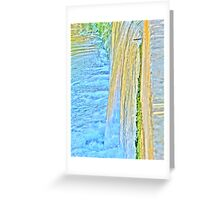 Water on Steps Greeting Card
