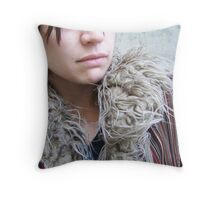 Asphalt Flowers Throw Pillow