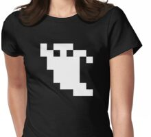 8 Bit Pixel Ghost Womens Fitted T-Shirt