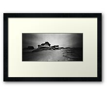 In the land of the giants, the one-eyed man is king Framed Print