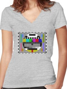 Vintage TV Women's Fitted V-Neck T-Shirt