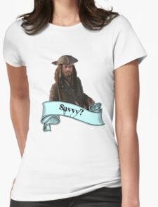 Pirates Of The Caribbean Savvy? Womens Fitted T-Shirt