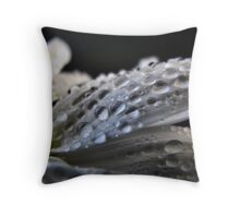 Raindrops at Rest Throw Pillow