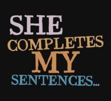 She completes my sentences by jazzydevil