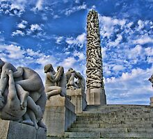 Vigeland Sculpture Park, Oslo, Norway by vadim19