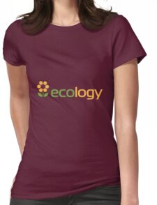 Ecology inscription Womens Fitted T-Shirt