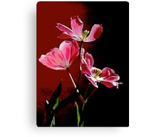 Pop Tulips Red Canvas Print