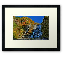 Autumn at Ithaca falls HDR Framed Print