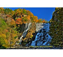 Autumn at Ithaca falls HDR Photographic Print