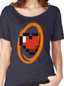 Portal Lover ! Orange Women's Relaxed Fit T-Shirt