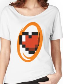 Portal Lover ! Orange Women's Relaxed Fit T-Shirt
