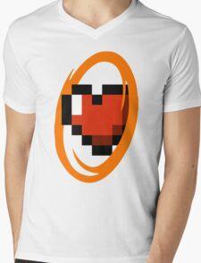 Portal Lover ! Orange Mens V-Neck T-Shirt