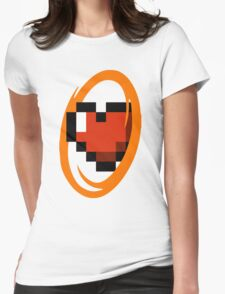 Portal Lover ! Orange Womens Fitted T-Shirt