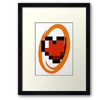 Portal Lover ! Orange Framed Print