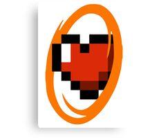 Portal Lover ! Orange Canvas Print