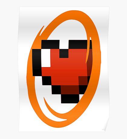Portal Lover ! Orange Poster