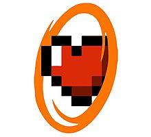 Portal Lover ! Orange Photographic Print