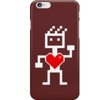 Robot with a heart iPhone Case/Skin
