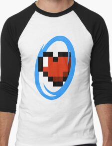 Portal Lover ! Blue Men's Baseball ¾ T-Shirt