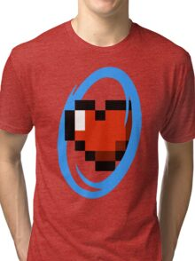 Portal Lover ! Blue Tri-blend T-Shirt