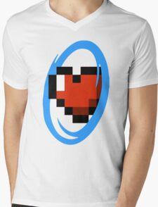 Portal Lover ! Blue Mens V-Neck T-Shirt