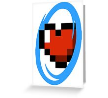 Portal Lover ! Blue Greeting Card