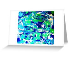 The Ocean is Blue with Tears Greeting Card