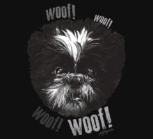 Shih-Tzu Says Woof! Woof! One Piece - Short Sleeve