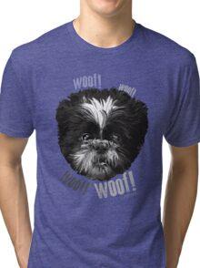 Shih-Tzu Says Woof! Woof! Tri-blend T-Shirt