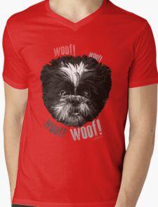Shih-Tzu Says Woof! Woof! Mens V-Neck T-Shirt
