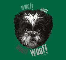 Shih-Tzu Says Woof! Woof! Womens Fitted T-Shirt
