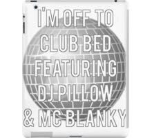 Club Bed DJ Pillow iPad Case/Skin
