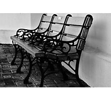 Relaxing at the Train Depot (Alvin Texas) Photographic Print