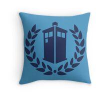 Tardis Roman Crown Throw Pillow