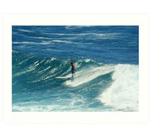 Surfing at Fairy Bower, Manly, NSW, Australia  Art Print