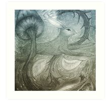 Hare Illustration Art Print