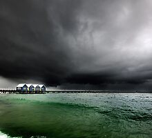 Storm at Busselton, Busselton Jetty, WA by James Deypalan
