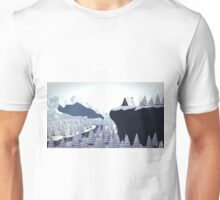 low poly - winter cabin day Unisex T-Shirt