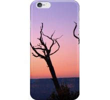 A tree grows above the Canyon iPhone Case/Skin