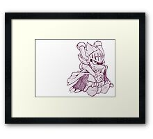 Chibi Drum  Framed Print