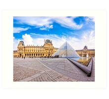 Entering The Louvre - Paris Landmarks Art Print