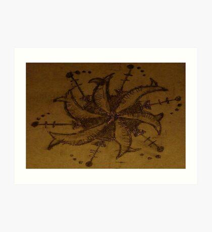 ancient star gazer Art Print