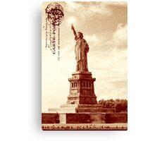Classic America - The Statue Of Liberty Canvas Print
