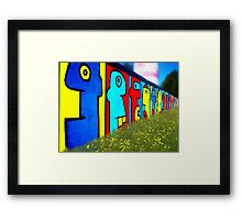painted faces Framed Print