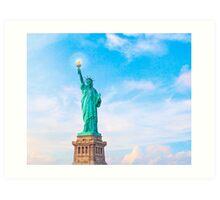 Lift my lamp beside the golden door - The Statue Of Liberty Art Print