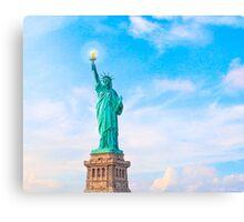 Lift my lamp beside the golden door - The Statue Of Liberty Canvas Print