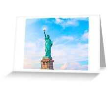 Lift my lamp beside the golden door - The Statue Of Liberty Greeting Card